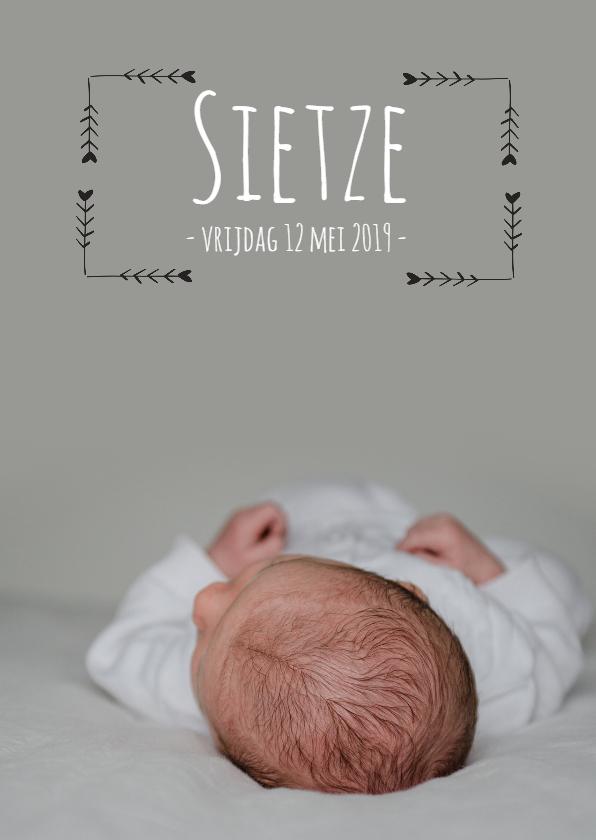 Geboortekaartjes - Geboortekaartje Sietze - HM