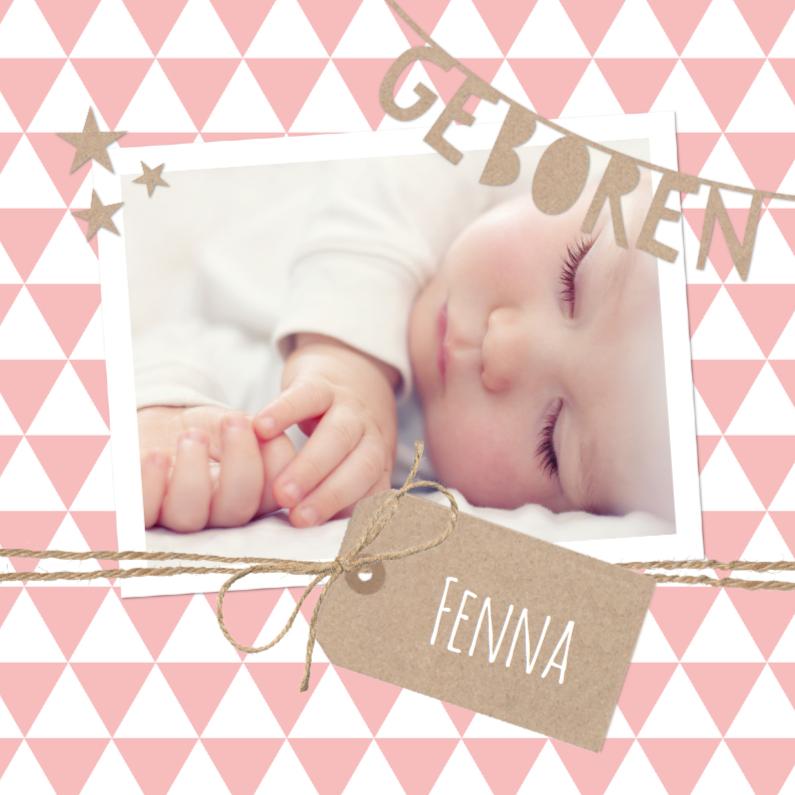 Geboortekaartjes - Geboortekaartje Slinger Fenna