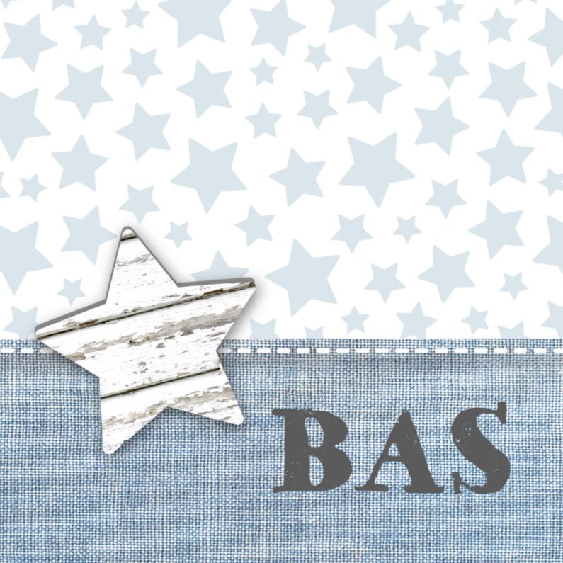 Geboortekaartjes - Geboortekaartje Stars&Jeans Blue
