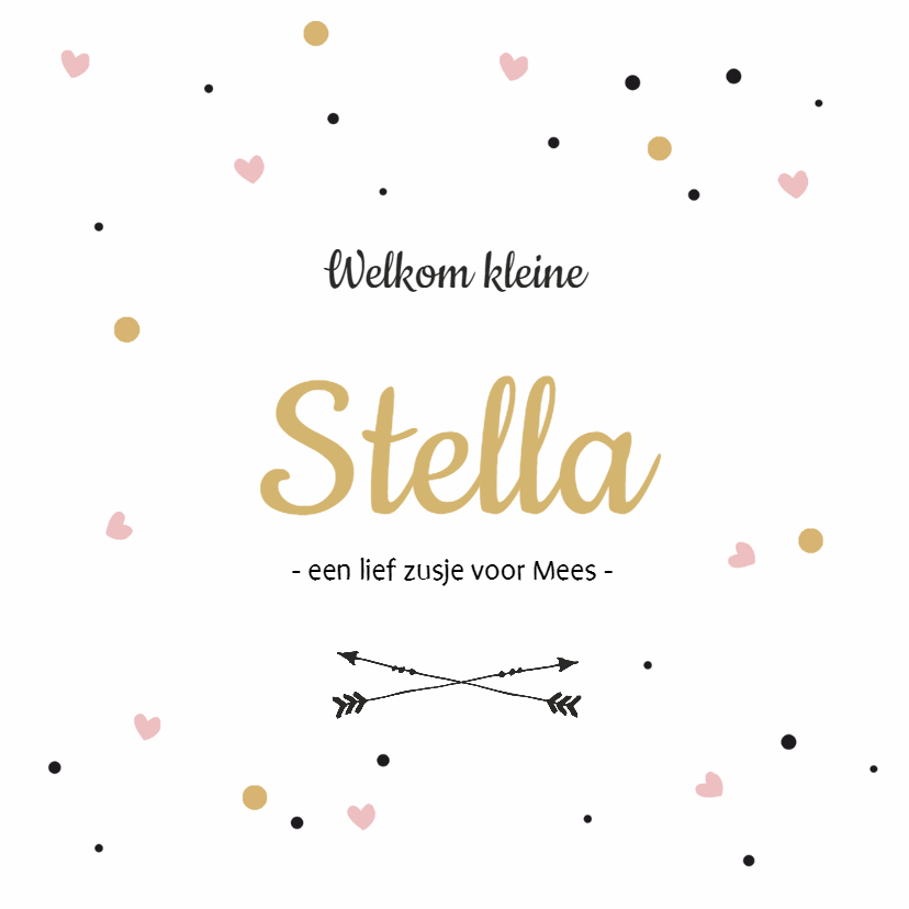 Geboortekaartjes - Geboortekaartje Stella