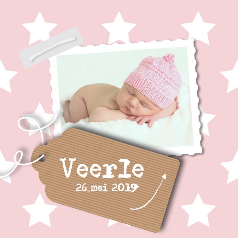 Geboortekaartjes - Geboortekaartje sterren - meisje