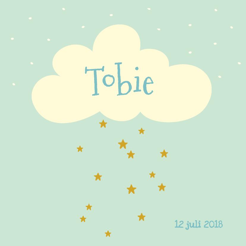 Geboortekaartjes - Geboortekaartje sterren wolk