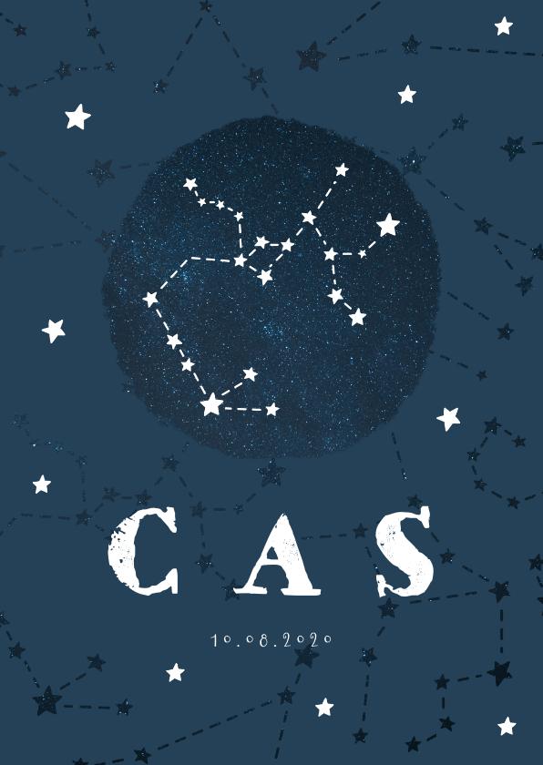 Geboortekaartjes - Geboortekaartje sterrenbeeld boogschutter universum