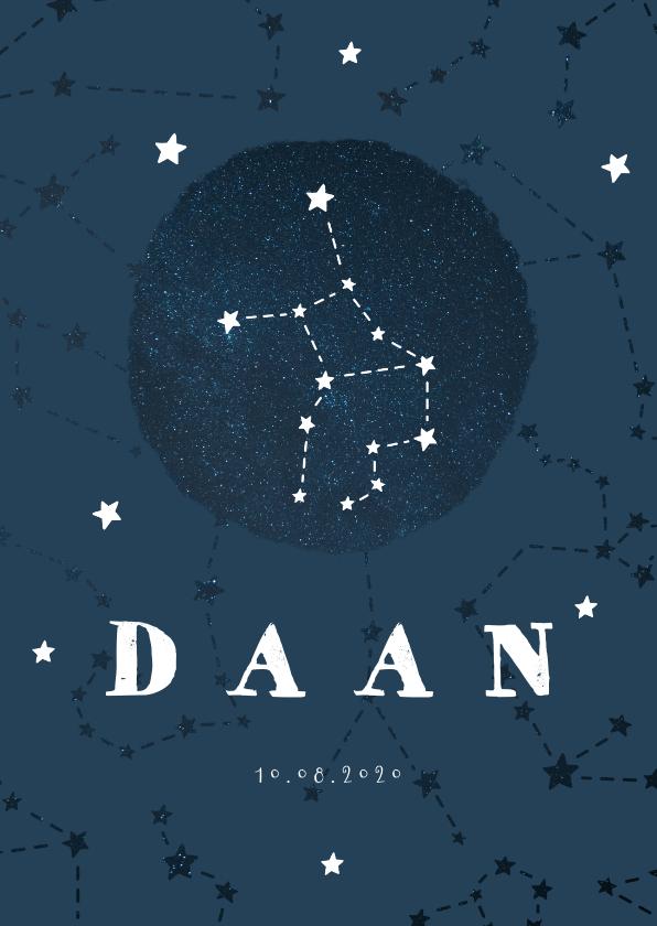 Geboortekaartjes - Geboortekaartje sterrenbeeld maagd universum