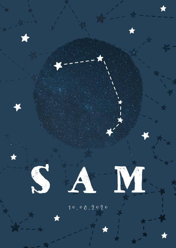 Geboortekaartjes - Geboortekaartje sterrenbeeld ram universum