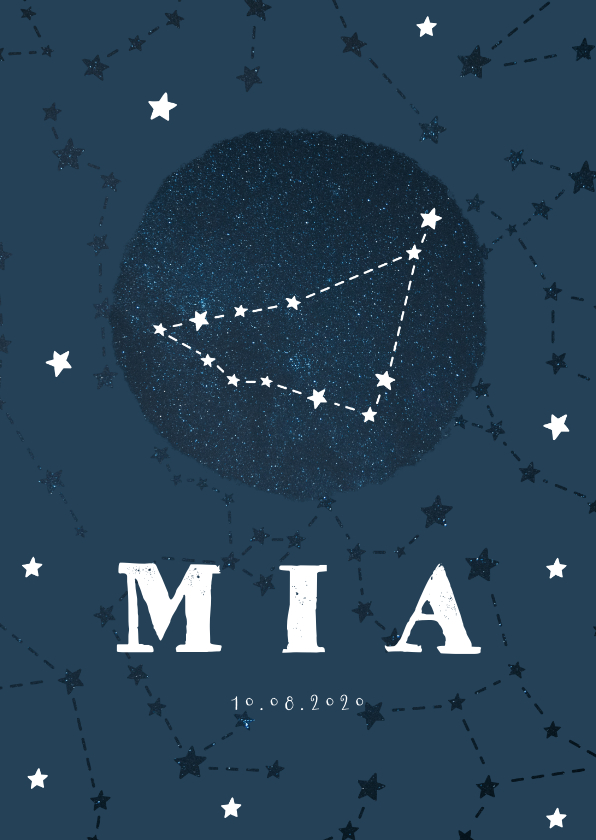 Geboortekaartjes - Geboortekaartje sterrenbeeld steenbok universum