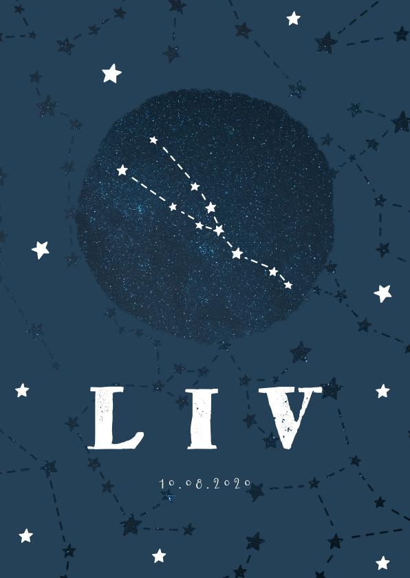 Geboortekaartjes - Geboortekaartje sterrenbeeld stier universum