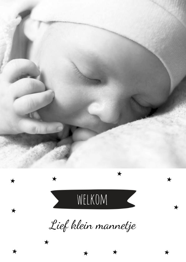 Geboortekaartjes - Geboortekaartje sterretje hip en foto
