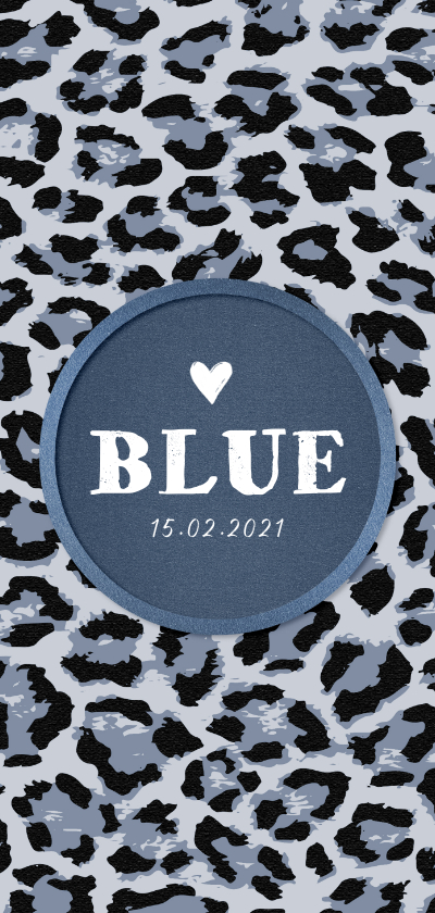 Geboortekaartjes - Geboortekaartje stoer met luipaard print