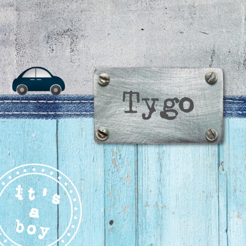 Geboortekaartjes - Geboortekaartje Tygo