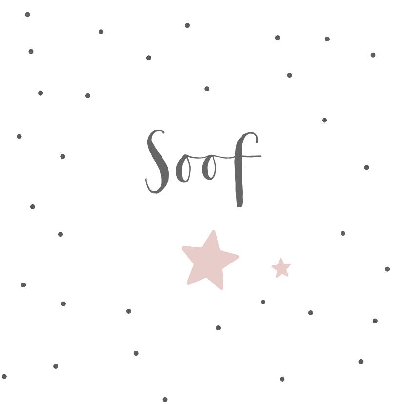 Geboortekaartjes - Geboortekaartje voor een dochter met sterren en stippen