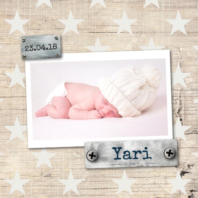 Geboortekaartjes - Geboortekaartje Yari