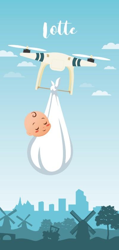 Geboortekaartjes - Gender Neutrale Geboortekaart voor Tech Savvy Ouders