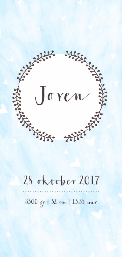 Geboortekaartjes - Handlettering & Pastel