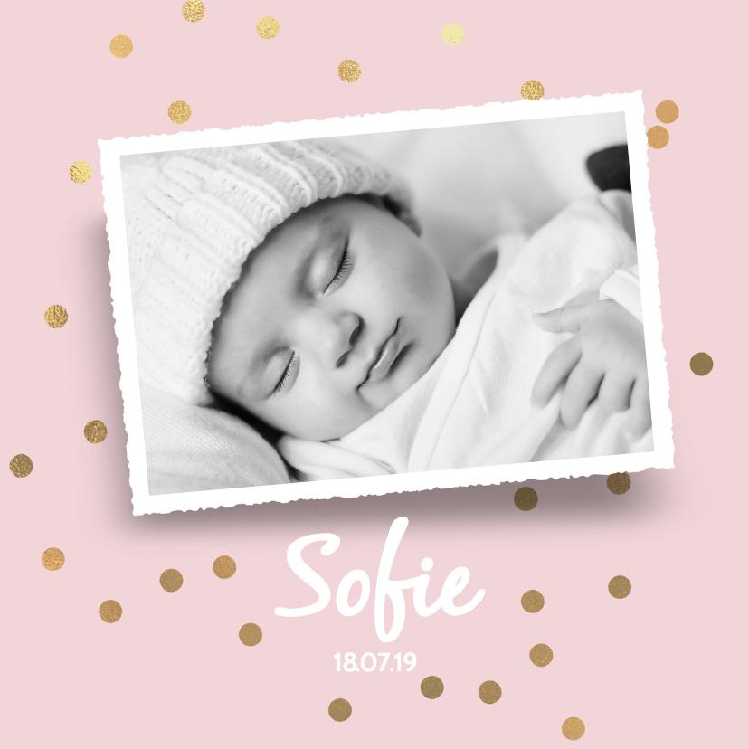 Geboortekaartjes - Hip geboortekaartje meisje