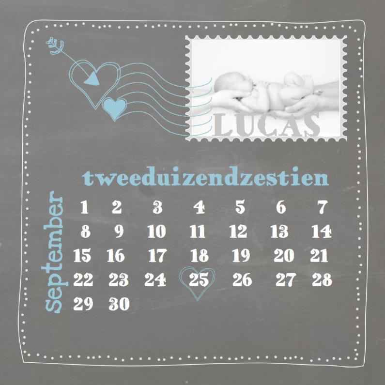 Geboortekaartjes - Hip schoolbord geboortekaartje