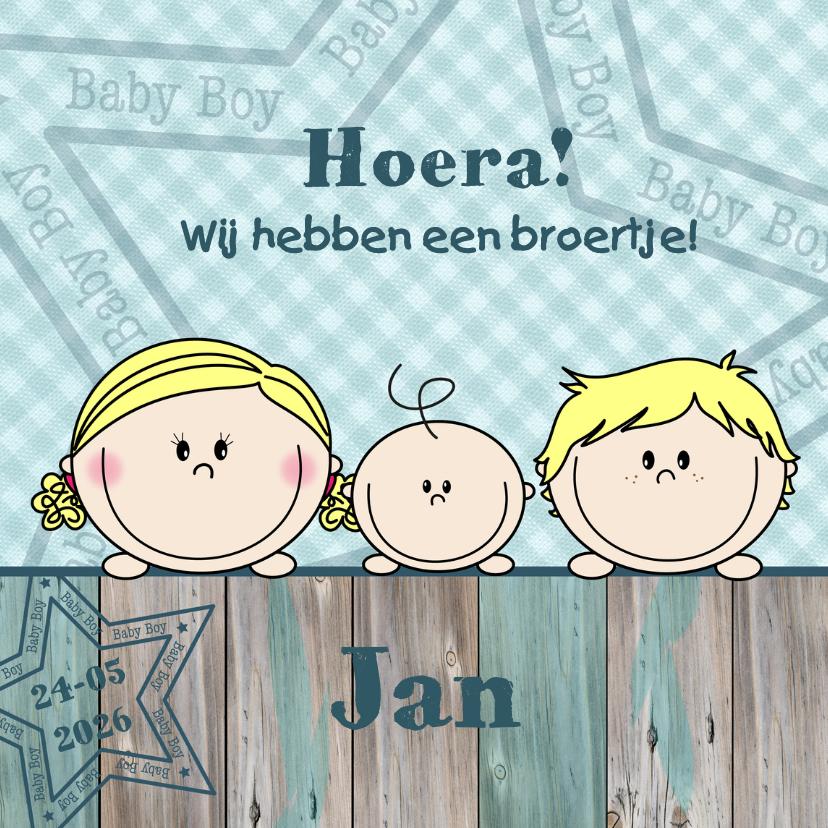 Geboortekaartjes - Jongen en meisje hebben broertje