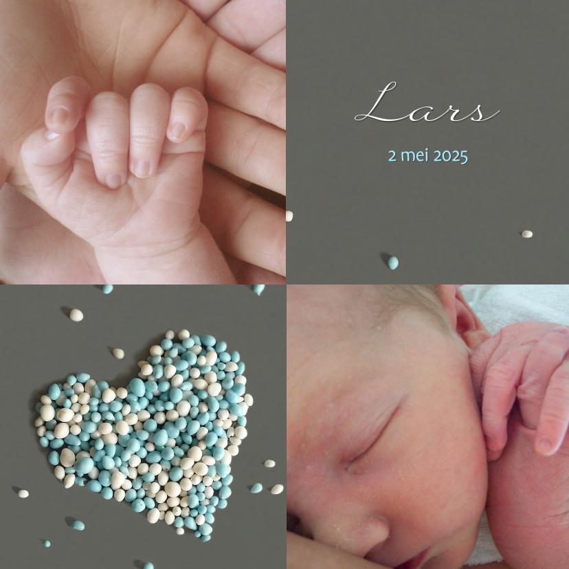 Geboortekaartjes - Jongen Muizenhart fotokaart