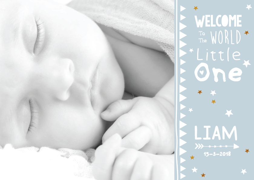 Geboortekaartjes - Lief geboortekaartje foto Liam