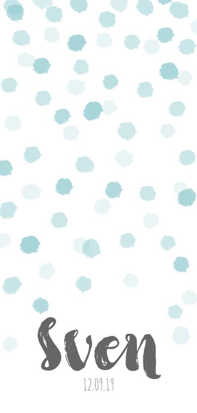 Geboortekaartjes - Lief geboortekaartje met blauwe stipjes