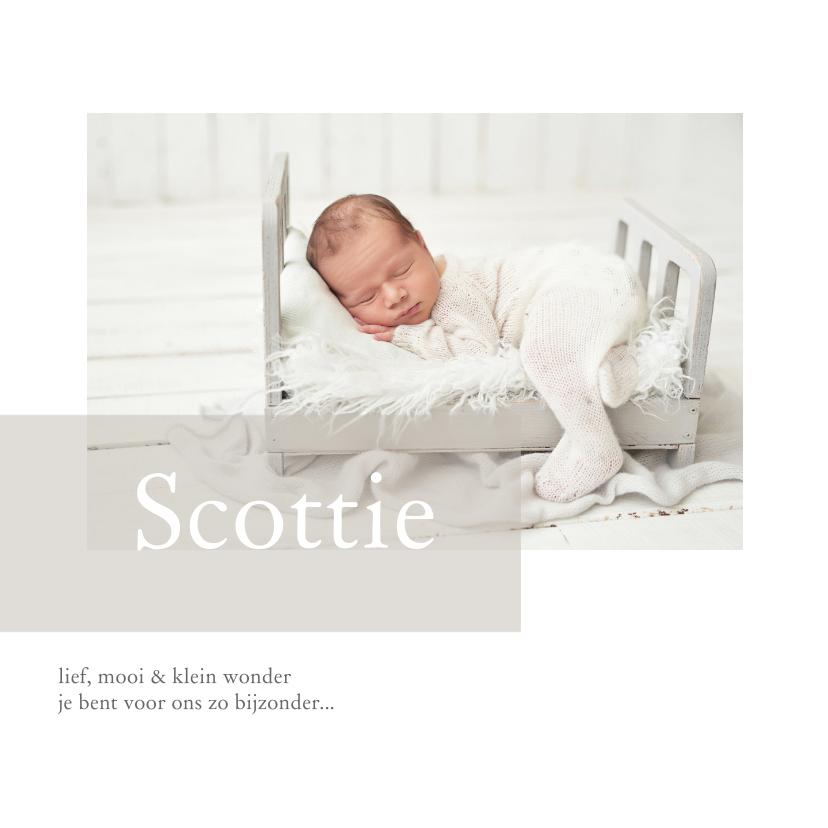 Geboortekaartjes - Lief geboortekaartje met foto voor een jongen en meisje