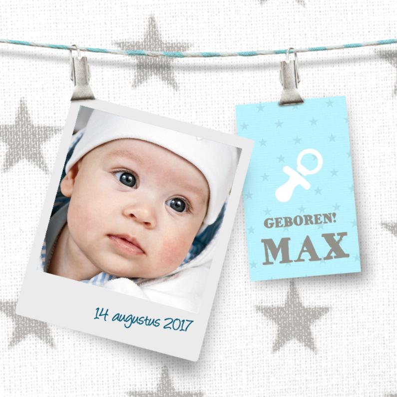 Geboortekaartjes - Schattig stoer geboortekaartje