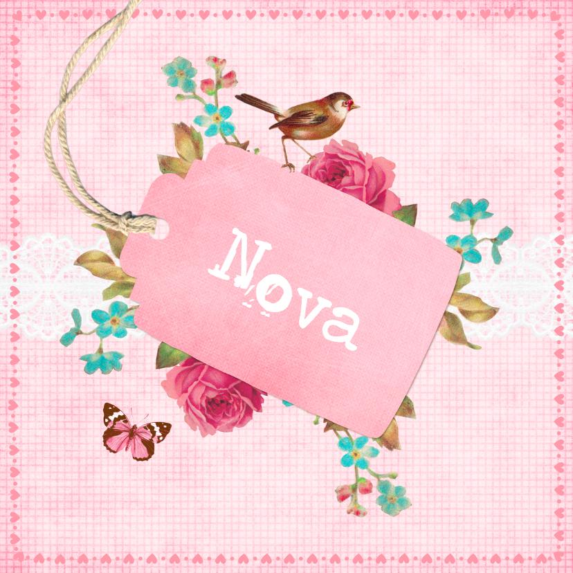 Geboortekaartjes - Vintage Geboortekaartje Nova