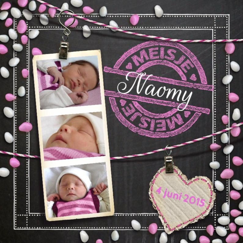 Geboortekaartjes - YVON geboorte muisjes meisje