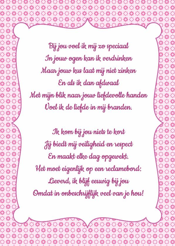 Gedichtenkaarten - Gedichtenkaart Roze Liefde