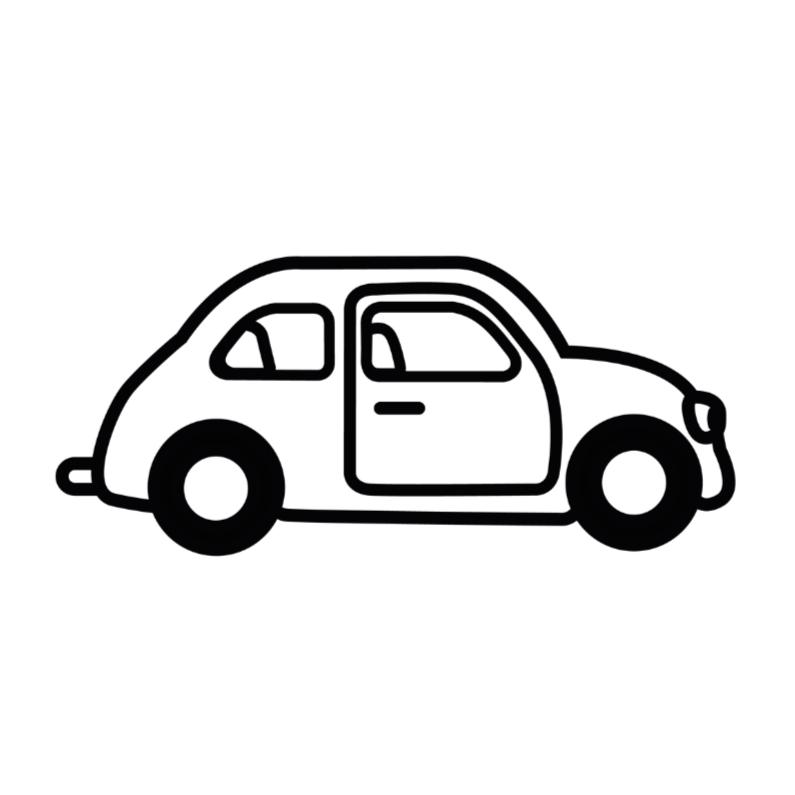 Geslaagd kaarten - Auto zwart wit rijbewijs