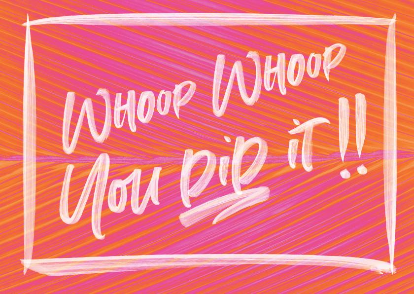 Geslaagd kaarten - Duo Tone 'You did it' kaart