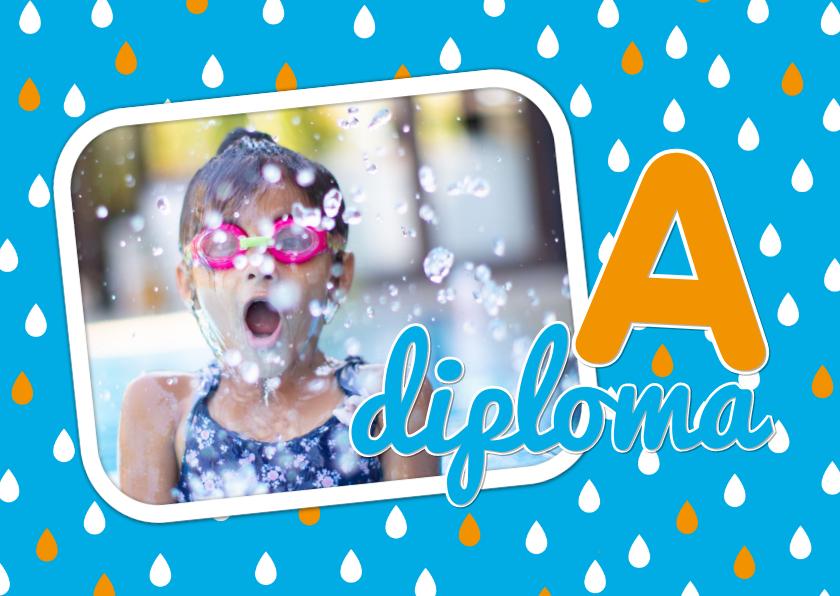 Geslaagd kaarten - Felicitatiekaart zwemdiploma 1L3
