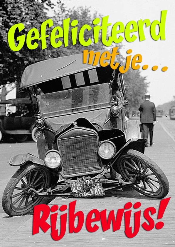 Geslaagd kaarten - Gefeliciteerd met je rijbewijs met  humor