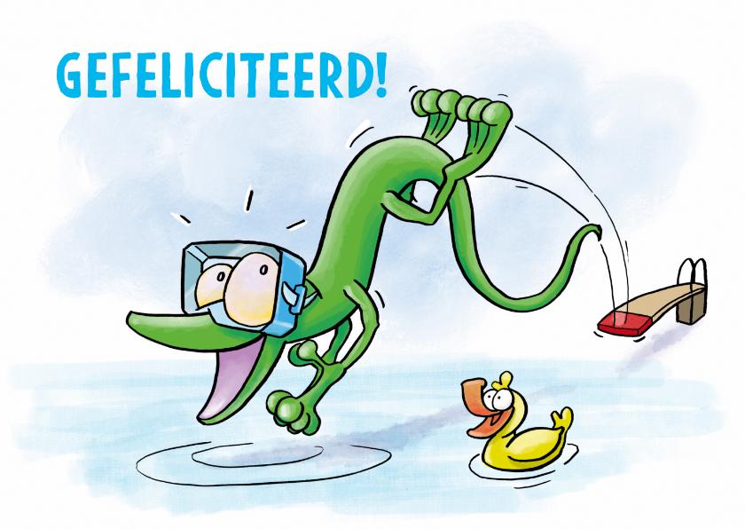 Geslaagd kaarten - Gefeliciteerd met je zwemdiploma geslaagd
