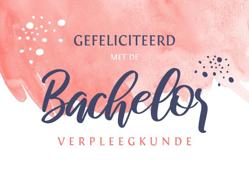 Geslaagd kaarten - Geslaagd Bachelor met naam studie