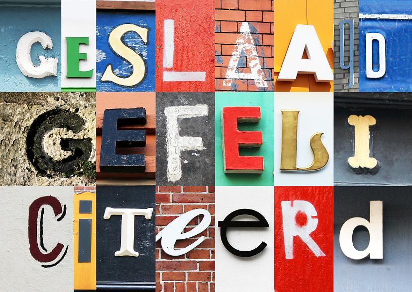 Geslaagd kaarten - Geslaagd gefeliciteerd letters
