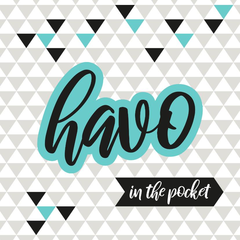 Geslaagd kaarten - Geslaagd geometrisch Havo in the pocket