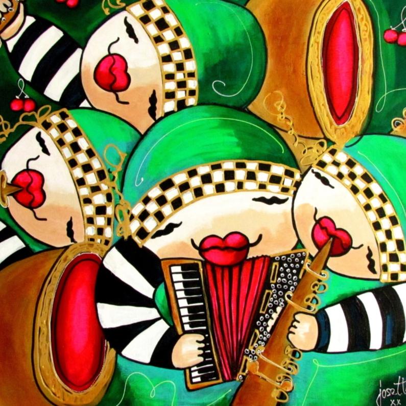 Geslaagd kaarten - Geslaagd - Het vrolijke kwartet