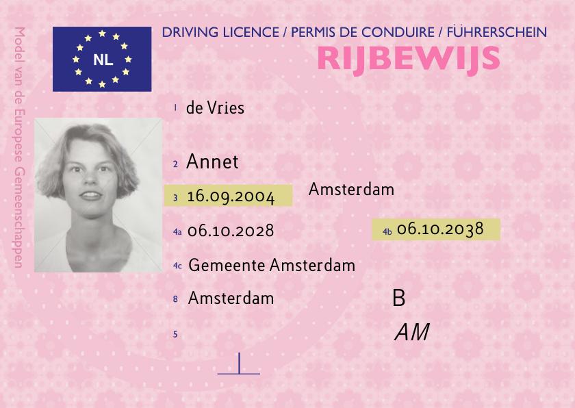 Geslaagd kaarten - Geslaagd kaart echt rijbewijs