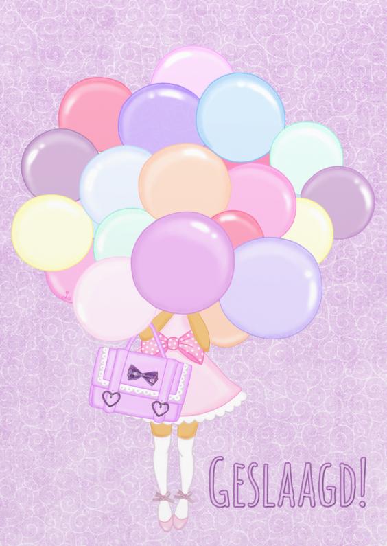 Geslaagd kaarten - Geslaagd Pastel Ballon - TbJ