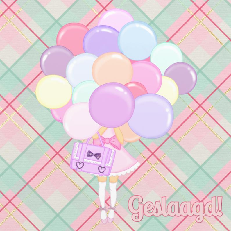 Geslaagd kaarten - Geslaagd Pastel Ballonnen - TbJ