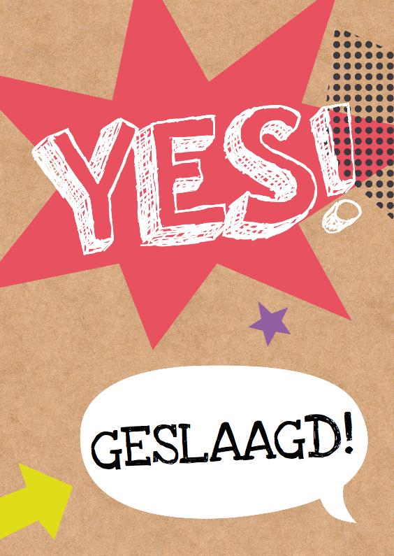 Geslaagd kaarten - Geslaagd-Yes! Well done!-HK
