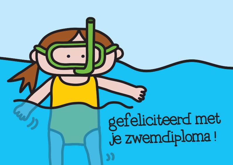 Geslaagd kaarten - Geslaagd Zwemdiploma Snorkel