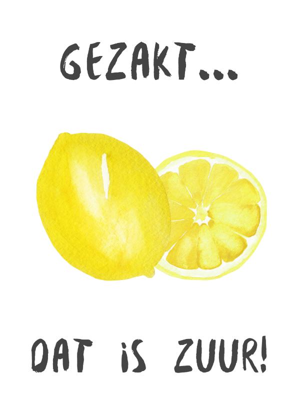 Geslaagd kaarten - Gezakt kaart citroen