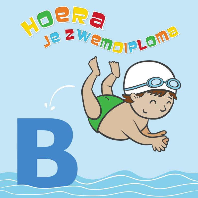 Geslaagd kaarten - Hoera! je zwemdiploma B