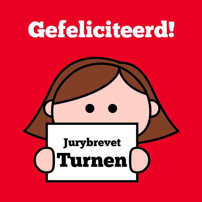 Geslaagd kaarten - Jurybrevet Turnen behaald! (v)