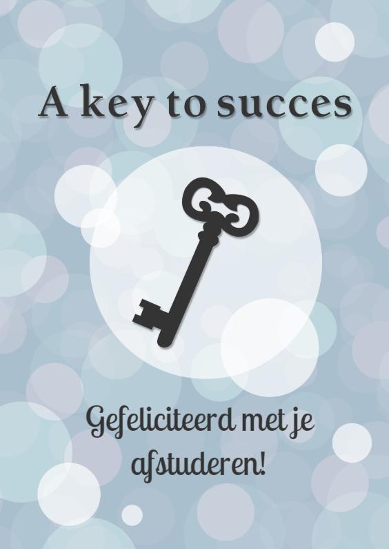 Geslaagd kaarten - key to succes