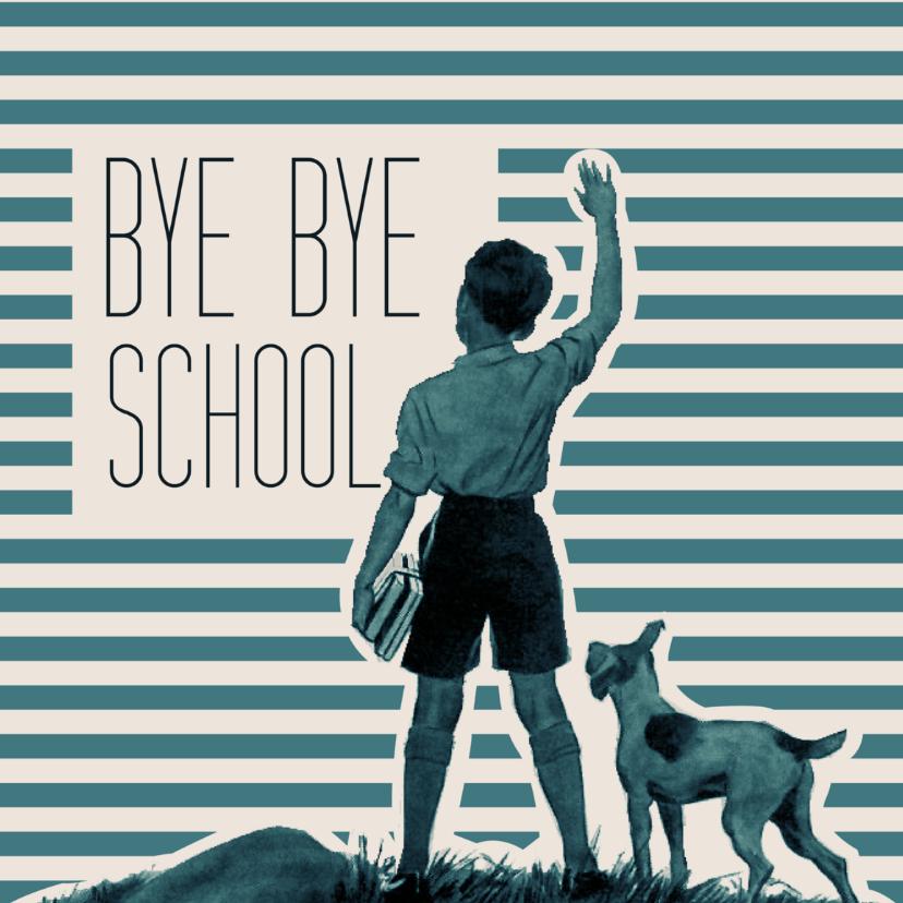 Geslaagd kaarten - Vintage bye school