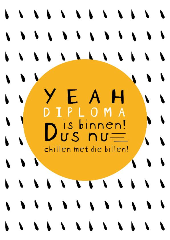Geslaagd kaarten - Yeah! Diploma is binnen!