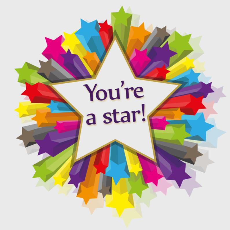 Geslaagd kaarten - youre a star